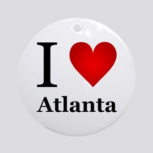 I Love Atlanta Ornament (Round)